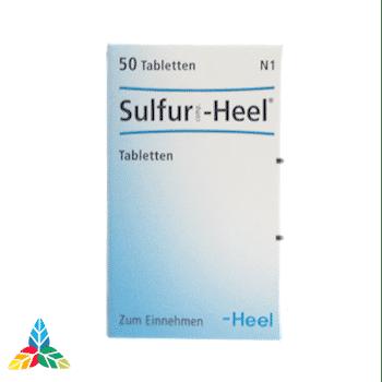 Sulfur heel tabletas 1 Farmacia Homeopática online