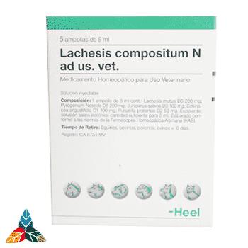 Lachesis veterinario ampollas Farmacia Homeopática online